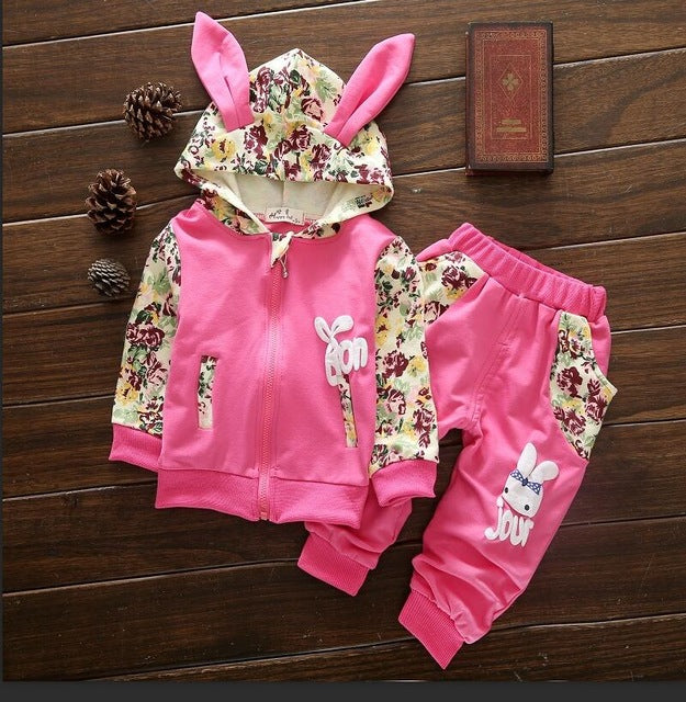 Baby Girls Floral Bunny Tracksuit