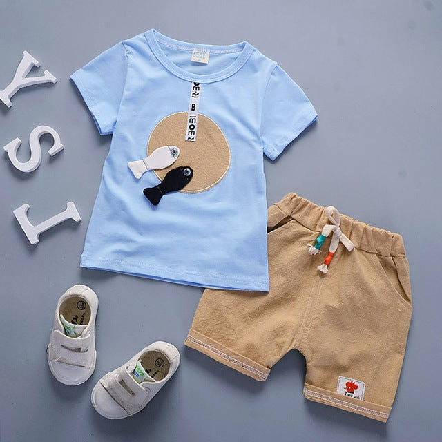 Fish and Circle Top and Shorts set