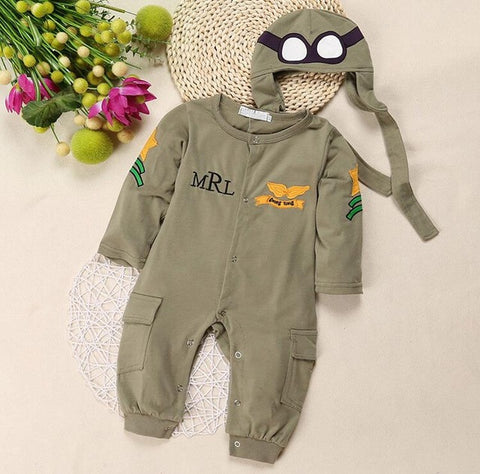 Baby Boy and Girl 3D Dinosaur Rompers