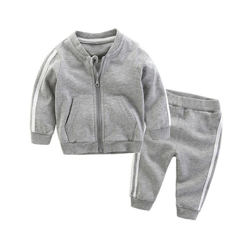 Plain Tracksuit With Stripe