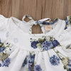 Newborn Baby Girl Floral T-shirt Dress 2pcs