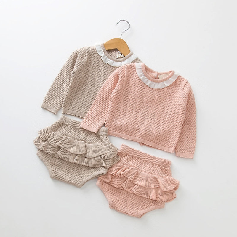 Baby Girls Clothes Long Sleeve Knitwear Set
