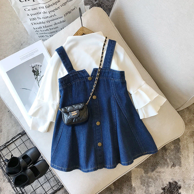 long sleeve shirt with jeans overall dress