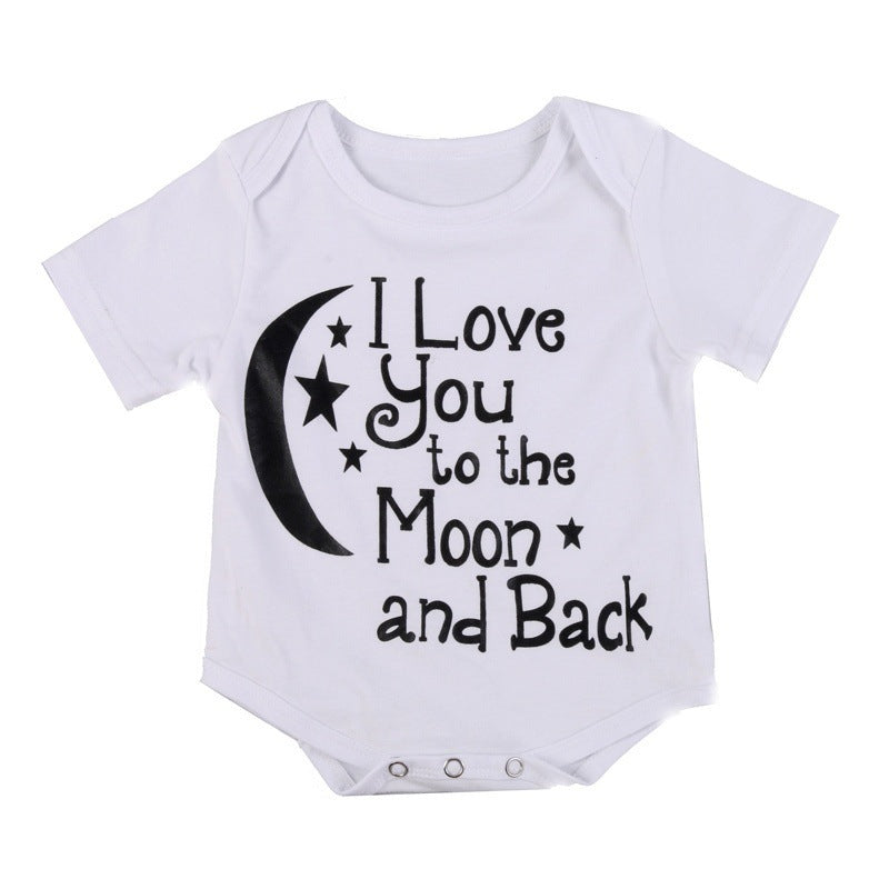 'I love you to the moon and back' Babygrow unisex