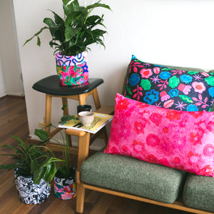 Untangled & Midnight Pink Large Fabric Pot