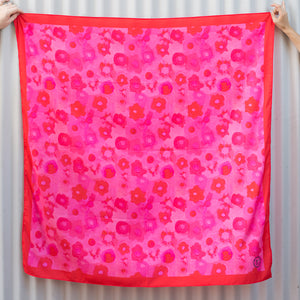 Pink Chintz' Large Scarf