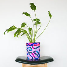 Load image into Gallery viewer, Untangled & Midnight Pink Large Fabric Pot