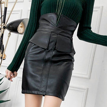 6132950a74 PU Leather Mini Skirt, black leather skirt, brown leather skirt