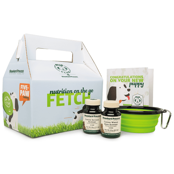 Pup Club Starter Pack With Small Whole Body Support and Enteric Support, Small Canine Whole Body and Enteric Support
