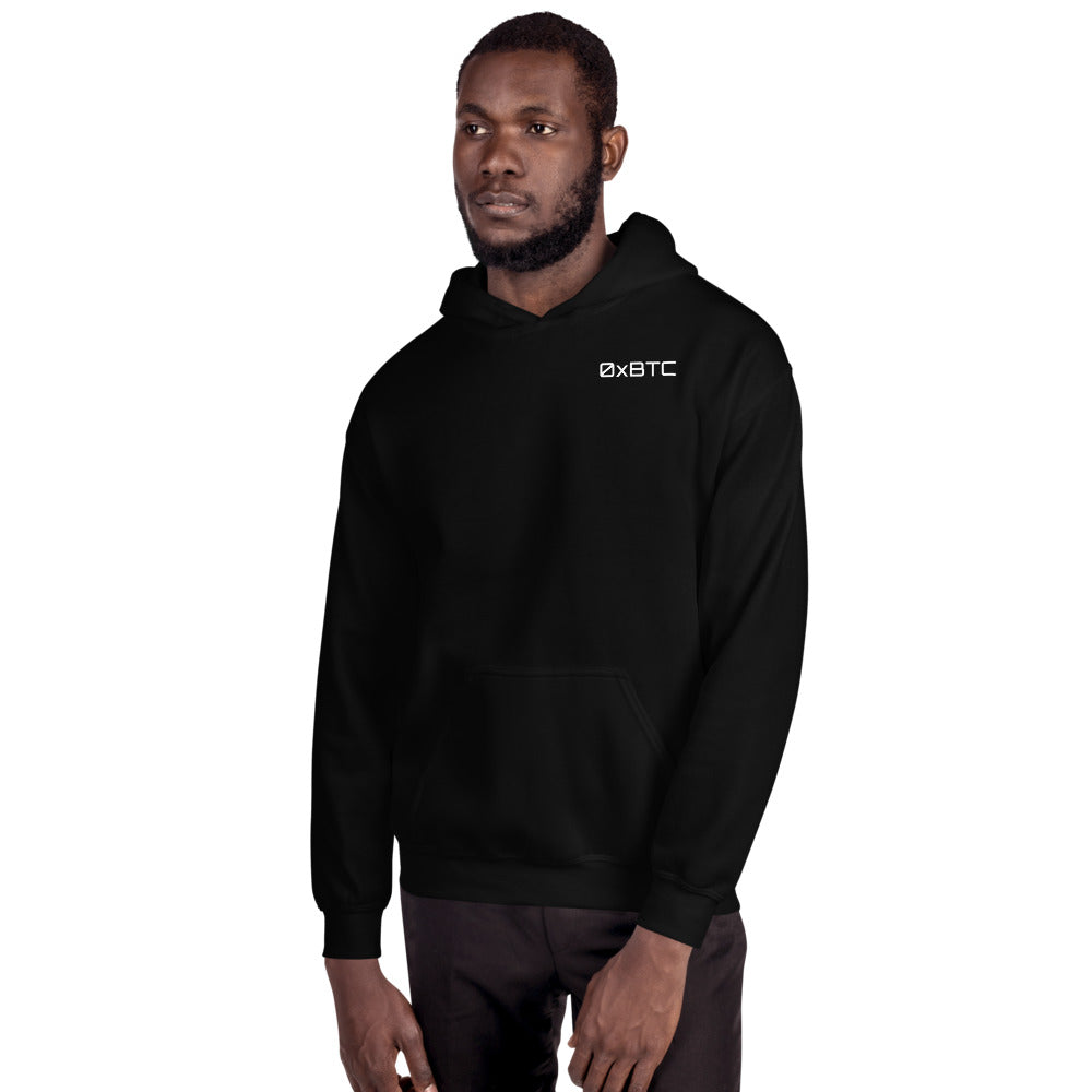 0xBitcoin To The Moon Hooded Sweatshirt