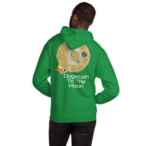 Dogecoin To The Moon Hooded Sweatshirt