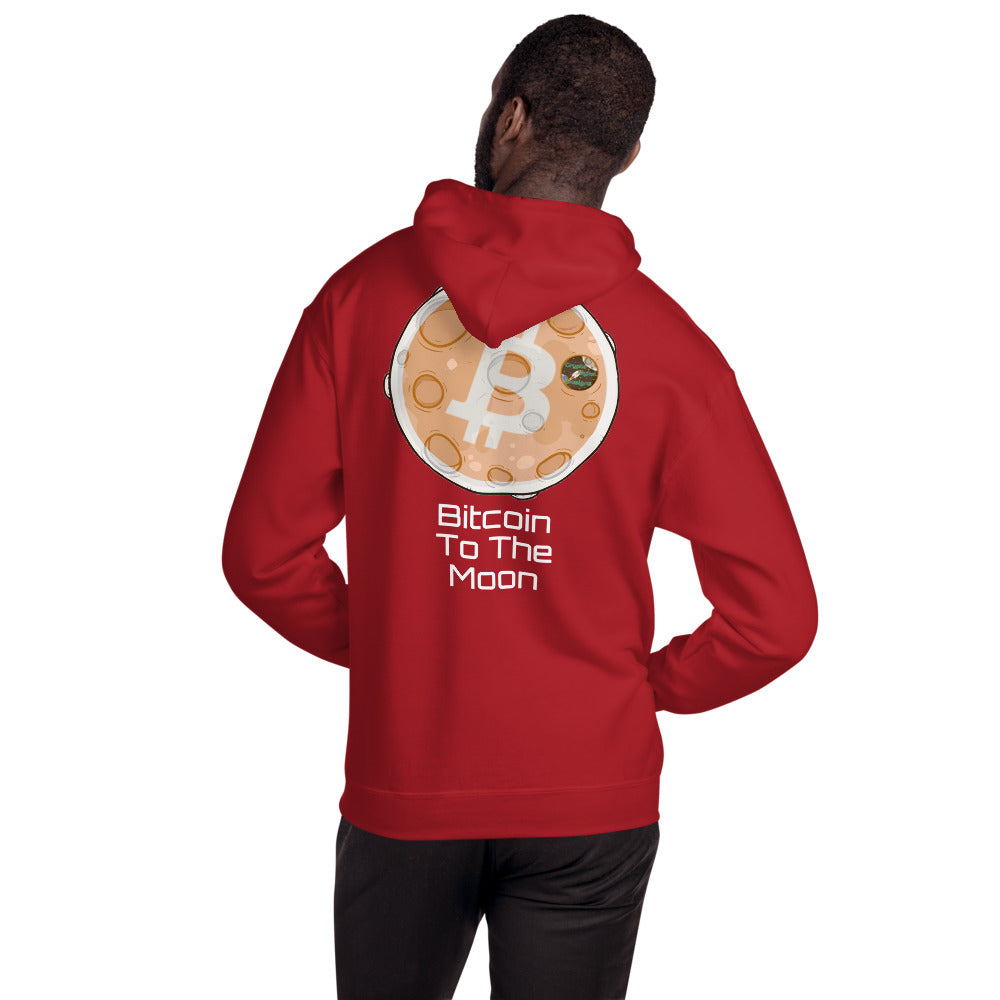 Bitcoin To The Moon Hooded Sweatshirt