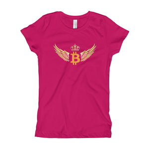 Girl's Winged Bitcoin