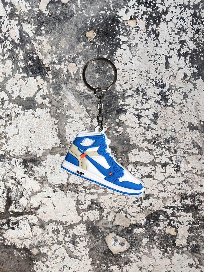 OFF-WHITE x Air Jordan 1 Retro High OG 'UNC' Keychain-Keychain-Dnasamplez