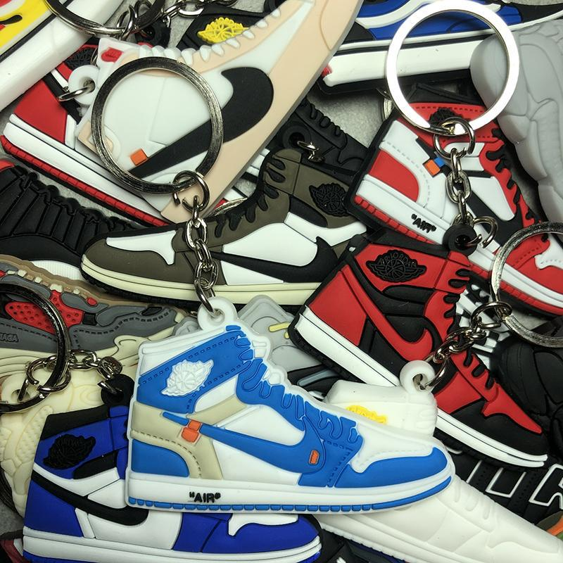OFF-WHITE x Air Jordan 1 Retro High OG 'UNC' Keychain - dnasamplez