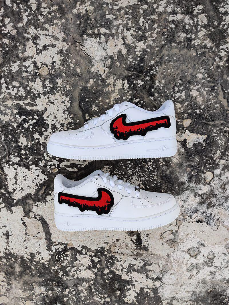 Blood Drip AF1-Shoes-Dnasamplez