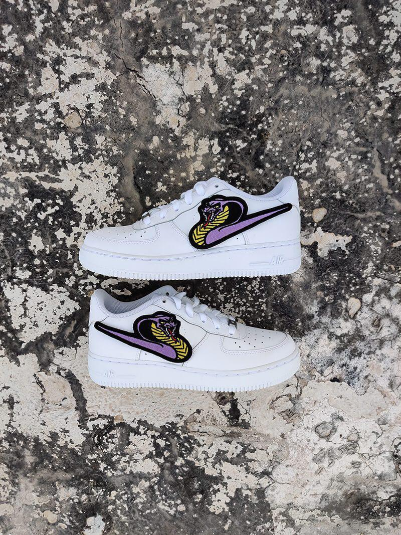 Purple Cobra Snake AF1-Shoes-Dnasamplez