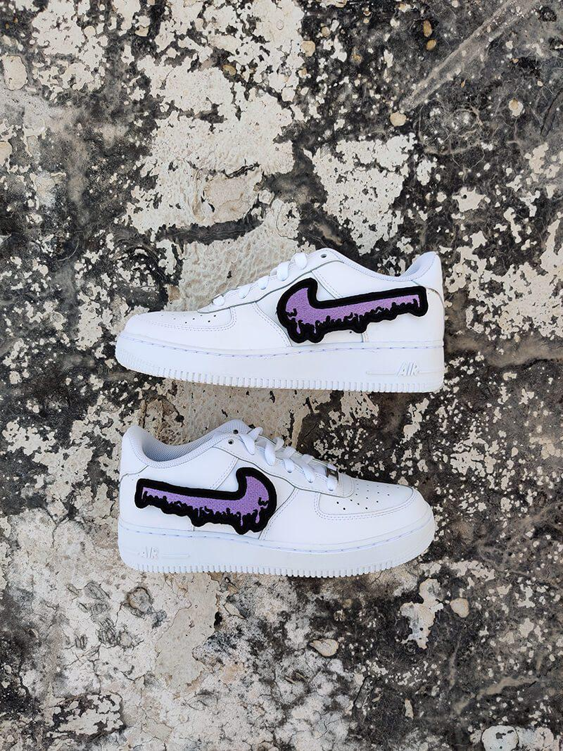 Purple Drip AF1-Shoes-Dnasamplez