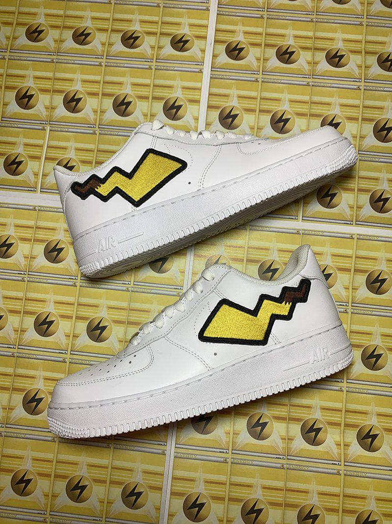 Pikachu Tail AF1- White-Shoes-Dnasamplez