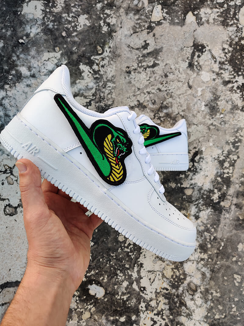 King Cobra Snake AF1-Shoes-Dnasamplez