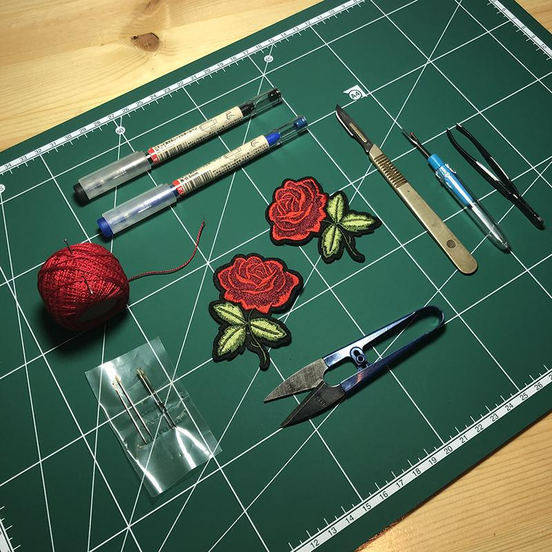 Red Rose Patches - dnasamplez
