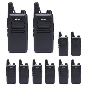 LUITON Walkie Talkies | Two Way Radio | Mini Uhf Radio 5-10 Miles Range(Black)