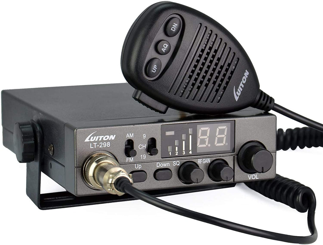 LUITON CB Radio | Two Way Radio | LT-298 40-Channel Compact Design with External Speaker Jack