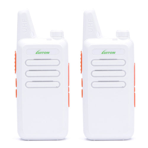 Walkie Talkies | Two Way Radio | Mini Uhf Radio 5-10 Miles Range(White)