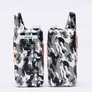Walkie Talkies | Two Way Radio | Mini Uhf Radio 5-10 Miles Range(Camo)
