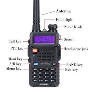 BAOFENG Walkie Talkies | Two Way Radio | BaoFeng UV-5RH High Power 8 Watt Dual Band Radio