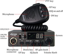 Load image into Gallery viewer, LUITON CB Radio | Two Way Radio | LT-298 40-Channel Compact Design with External Speaker Jack