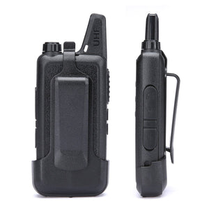 Walkie Talkies | Two Way Radio | Mini Uhf Radio 5-10 Miles Range(Black)