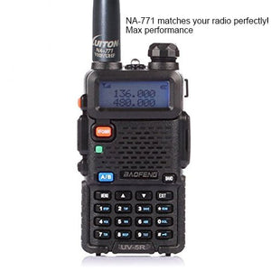 Antenna | Two-Way Radio Antenna | NA-771 15.6-Inch Whip Dual Band UV VHF/UHF 144/430Mhz