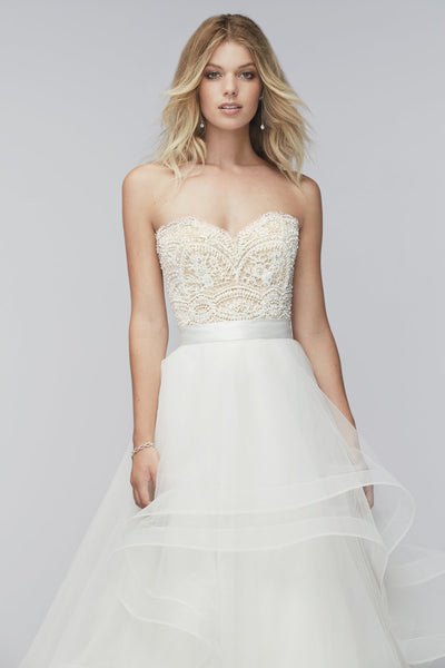 Watters Woo Bree Beaded Corset Wedding Dress