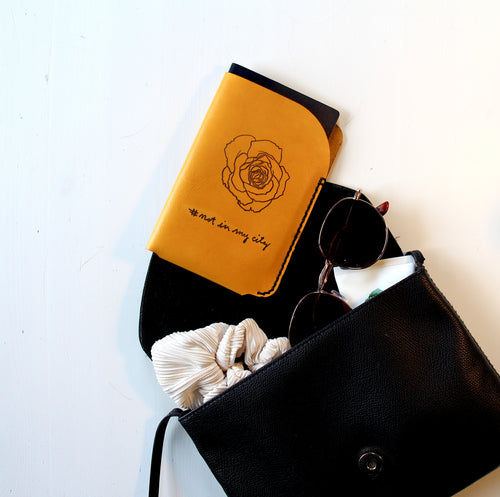 Leather Passport Sleeve by LETHRBAR