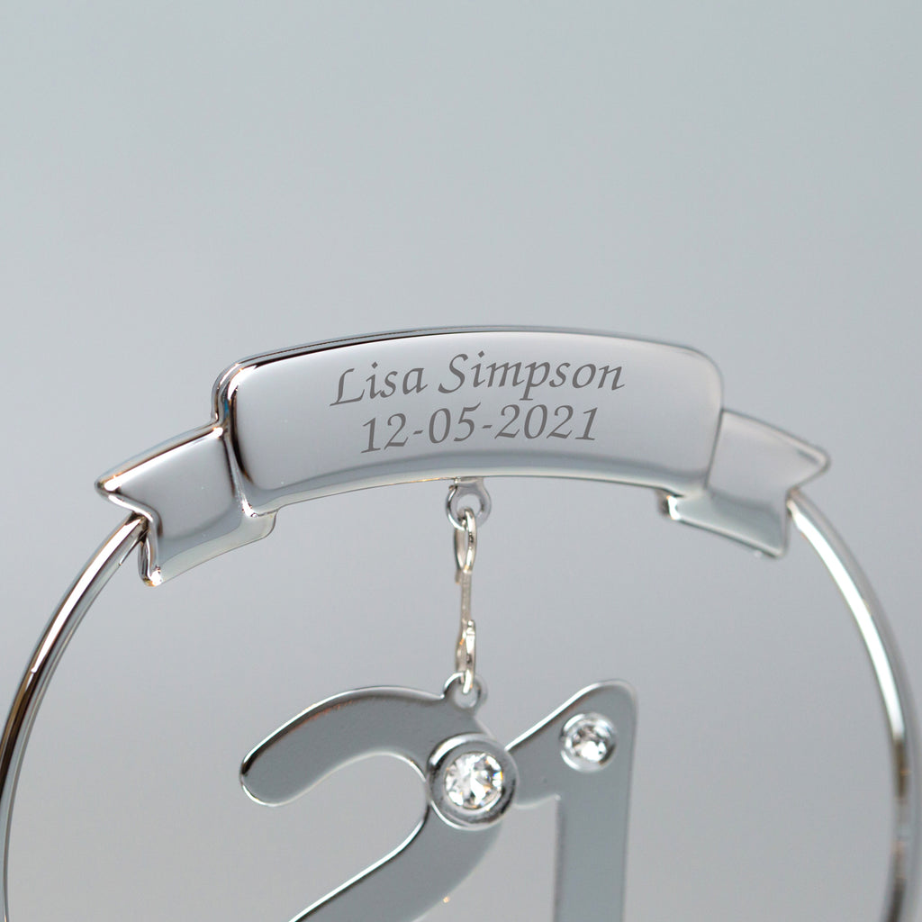 Personalised Crystocraft 21st Ornament