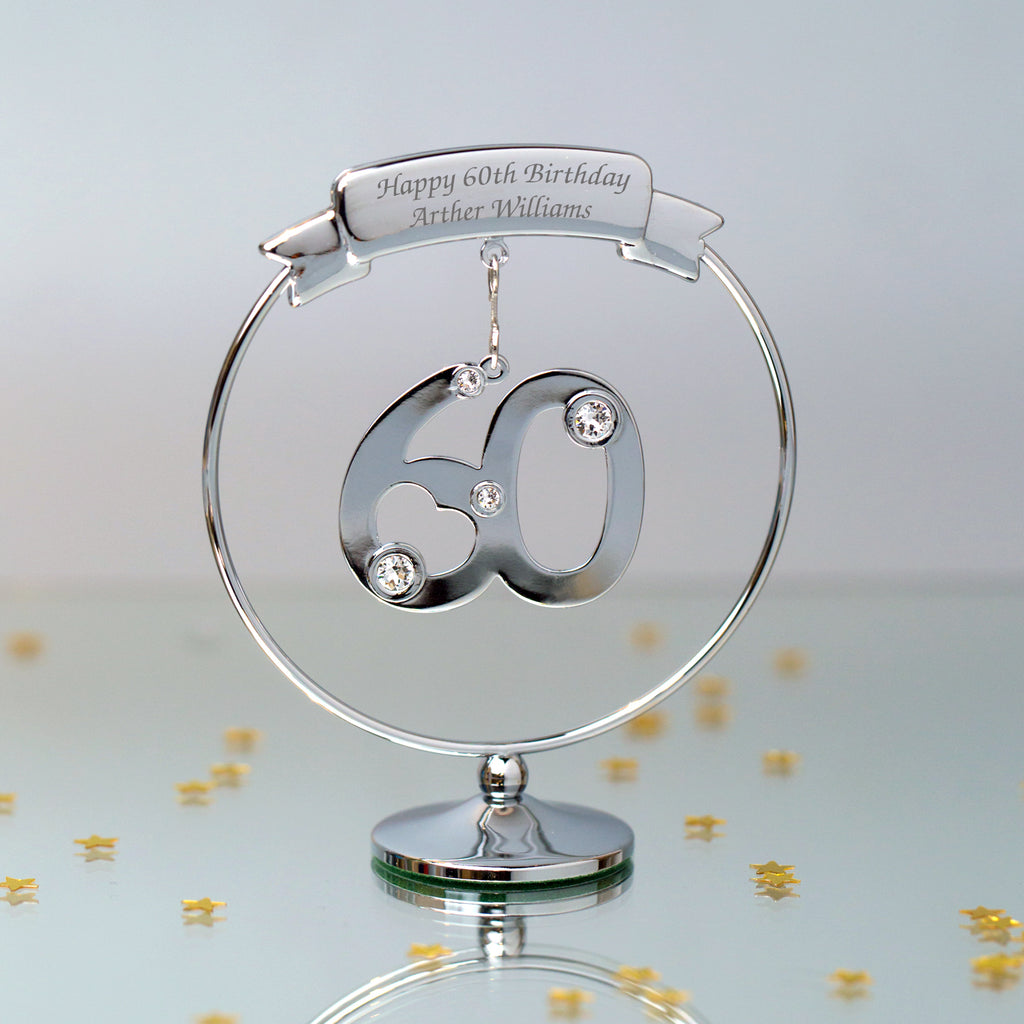 Personalised Crystocraft 60th Ornament