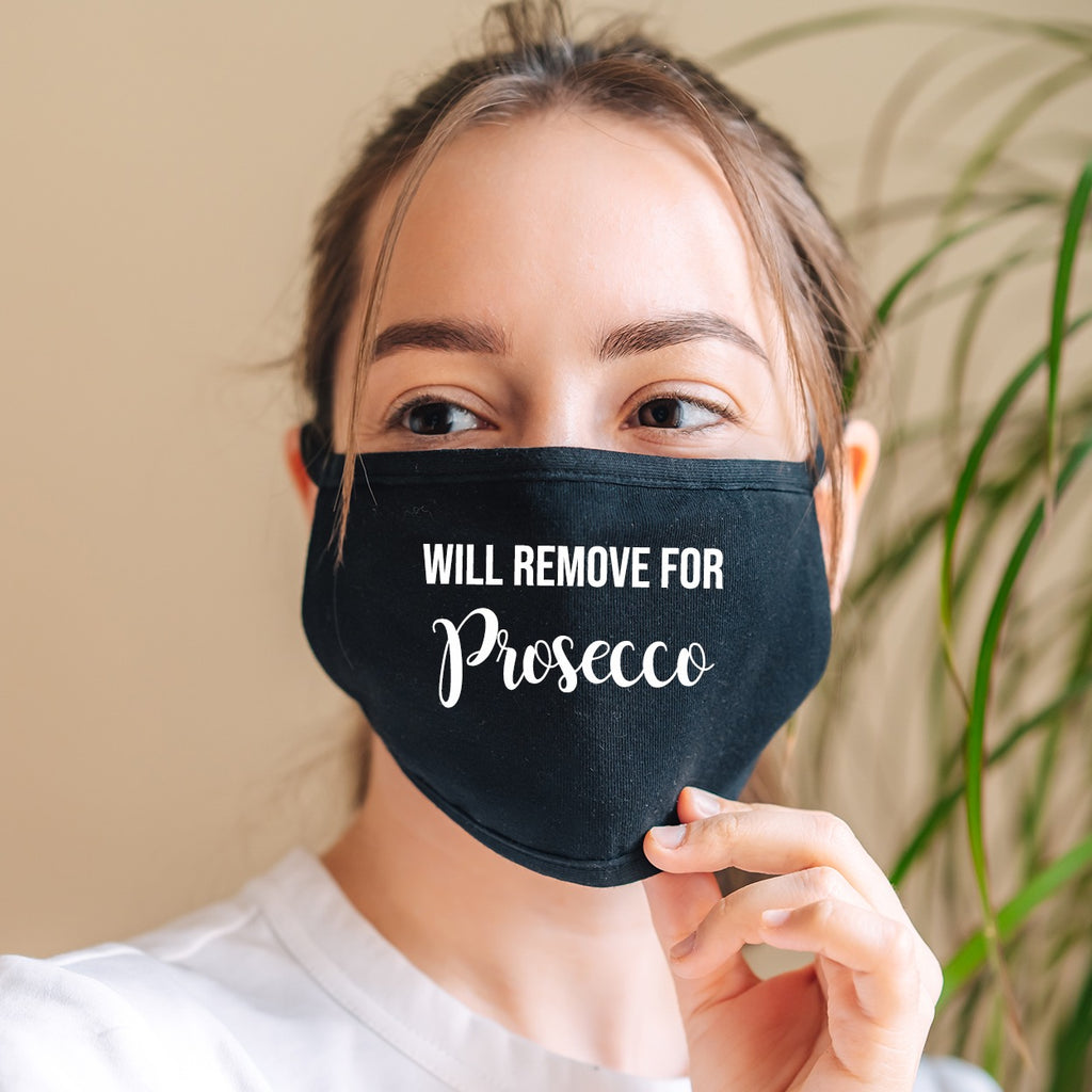 Personalised Will Remove For... Black Face Mask