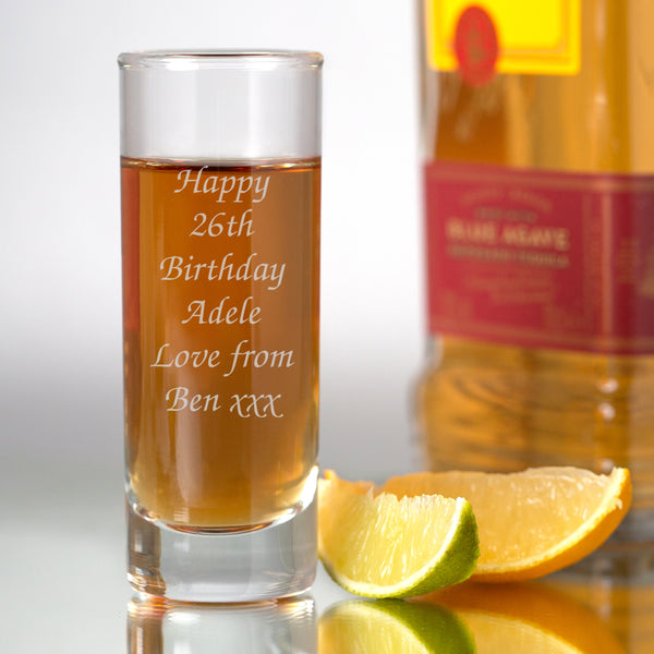 Personalised Engraved Any Message Shot Glass