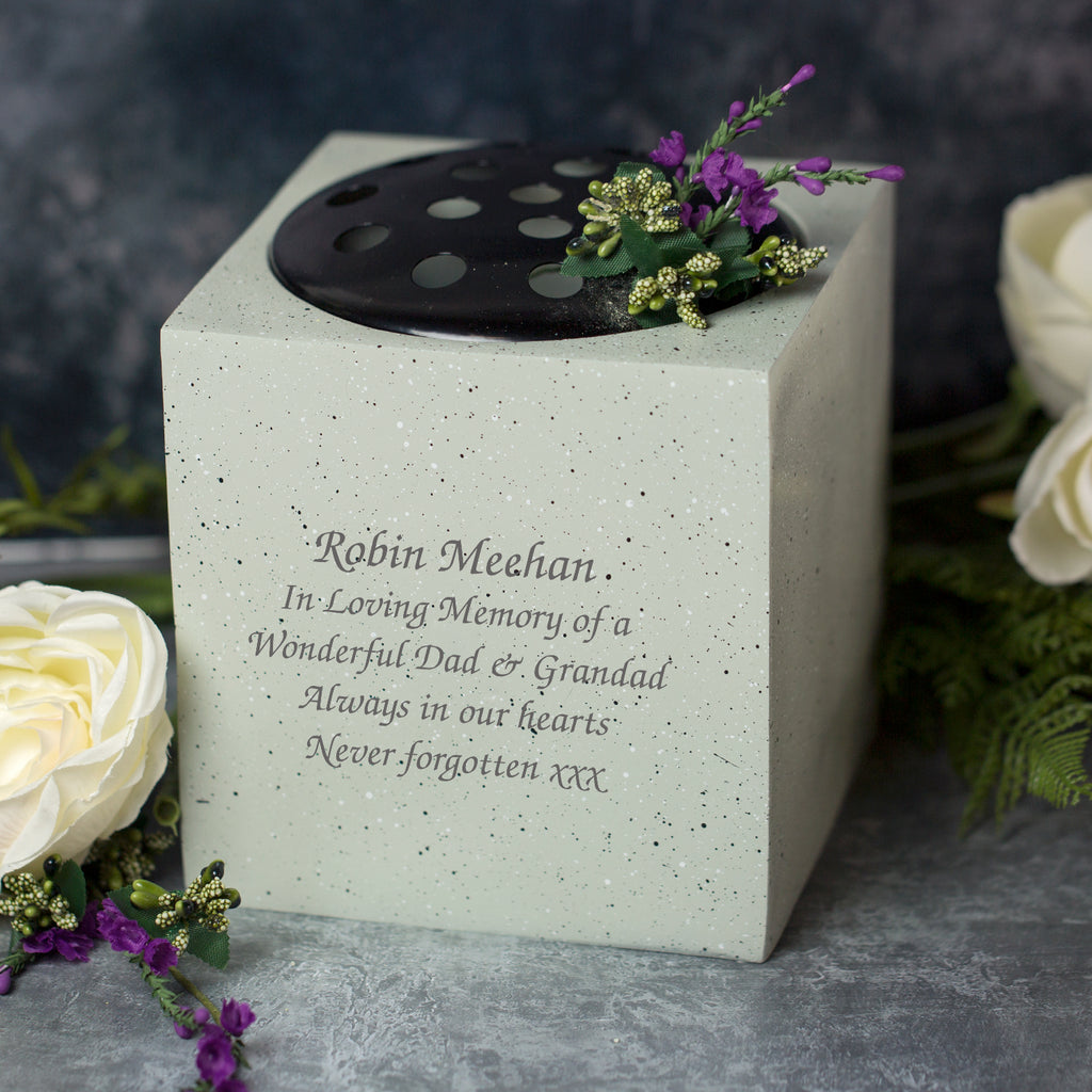 Personalised Memorial Flower Vase