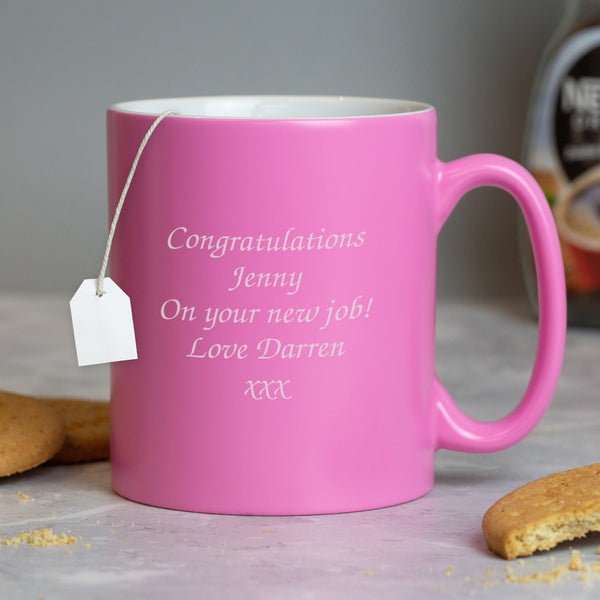 Personalised Any Message Pink Mug