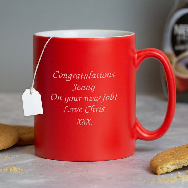 Personalised Any Message Red Mug