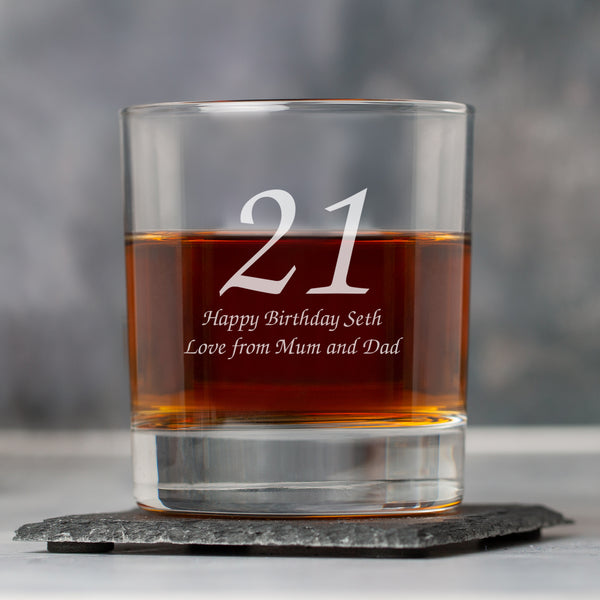 Personalised Age Glass Tumbler