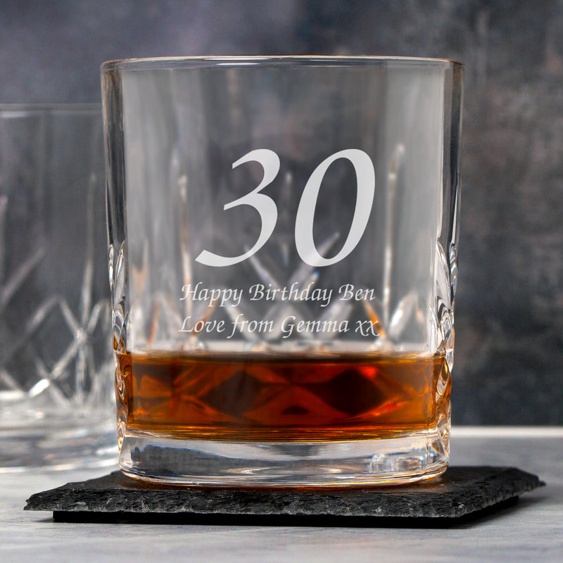 Personalised Age Crystal Panel Glass Tumbler