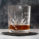 Personalised Father Of The Bride Crystal Panel Glass Tumbler