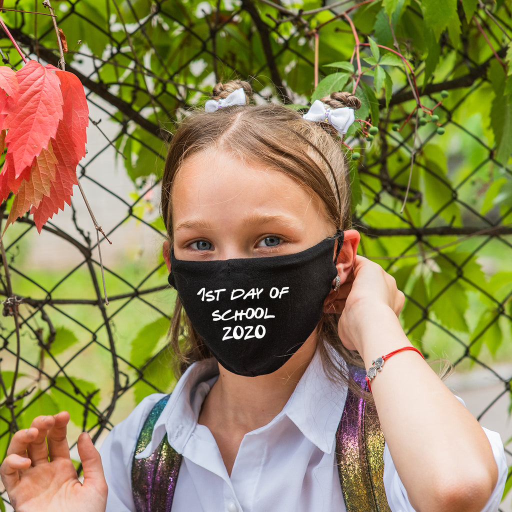 First 1st Day Of School 2020 Black Face Mask