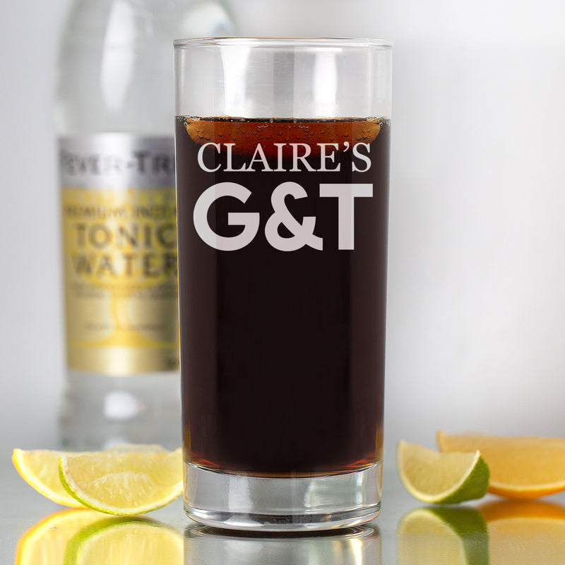 Personalised G&T Hi Ball Glass