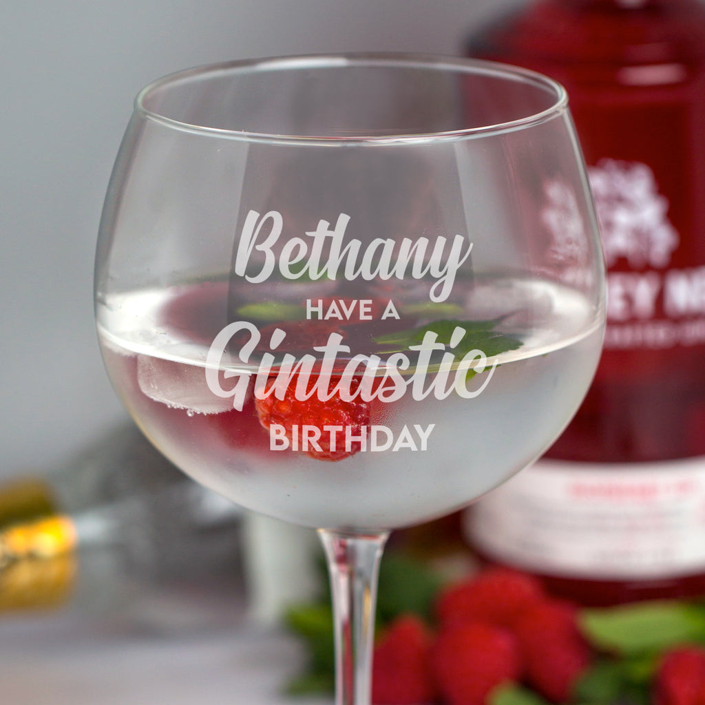 Personalised Gintastic Birthday Balloon Gin Glass
