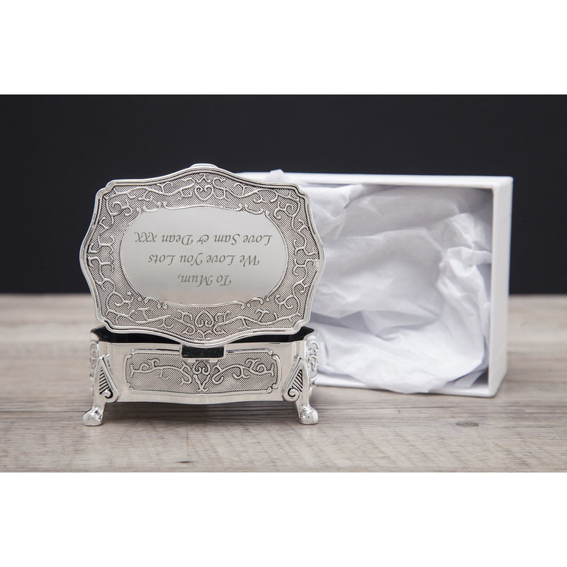 Personalised Antique Silver Small Trinket