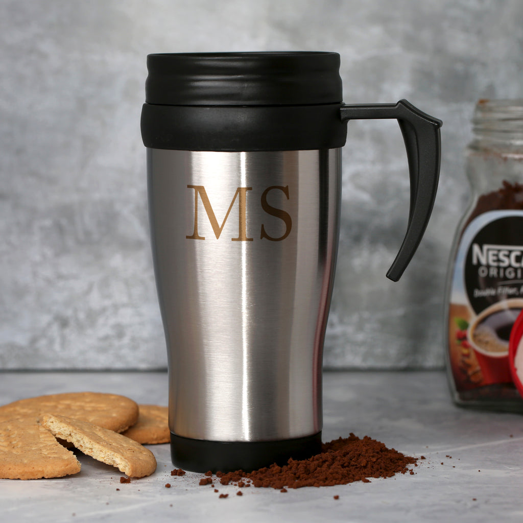 Personalised Initials Stainless Steel Travel Mug